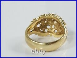 14K Gold James Avery MARGARITA FLOWER DOME Ring Size 3 1/2 Retired