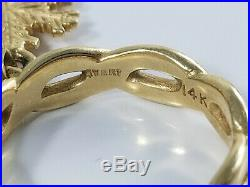 14K Gold James Avery SNOWFLAKE DANGLE CHARM Ring Size 3 1/2 Retired