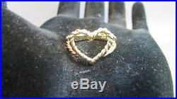 14k Yellow Gold Twisted Wire Heart Ring Size 7 5 James Avery Jim Morris James Avery Ring