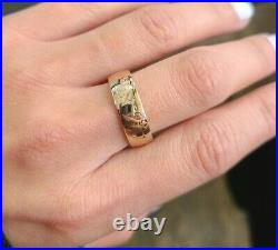 14k Yellow Gold James Avery Hebrew Scripture Ring sz. 8