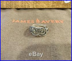 2 RETIRED James Avery Rings! Spanish Scroll And Love Ring! Great Condition