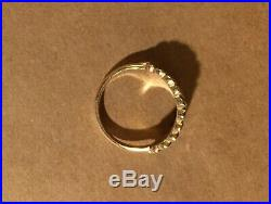 3 DAYS Beautiful James Avery 14K 14KT Gold Mimosa ring with Wooden Box size 8 1/4