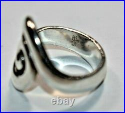 Amazing RETIRED JAMES AVERY Sterling Silver 925 Omega Swirl Band Ring Sz- 5.5