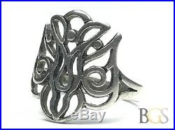 Awesome Ladies JAMES AVERY Solid Sterling Silver Ring Size 7.5 A MUST SEE