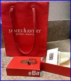 Beautiful! JAMES AVERY Adoree Emerald ring 14k Yellow Gold SZ 7