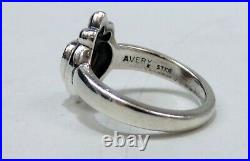 Beautiful James Avery Sterling Silver With Crowned Garnet Heart Ring Sz 5.25