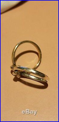 Beautiful Size 7.5 James Avery Sterling Silver And 14k Gold Lovers Knot Ring