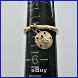 JAMES AVERY 14K GOLD Dangle Ring with SAND DOLLAR Charm Sz 5