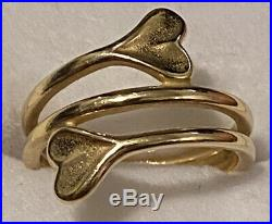 JAMES AVERY 14K Yellow Gold HEARTS EMBRACE RING Size 8