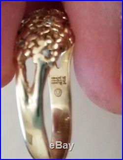 JAMES AVERY 14K gold! 11 DIAMONDS DAISY RING SIZE 7.5
