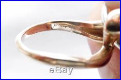 JAMES AVERY 14k YELLOW GOLD AND STERLING SILVER RING SIZE 6
