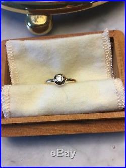 JAMES AVERY DIAMOND REMEMBRANCE RING, 14K, SIZE 6.5, BLACK CHERRY BOX, Excellent