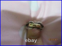 JAMES AVERY Enduring Bond Ring 14K Yellow Gold & Sterling Silver Sz 5.5 RETIRE