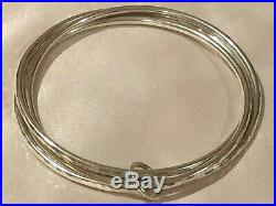 JAMES AVERY Linked Bangle Bracelets with Jump Ring Sterling Silver Medium