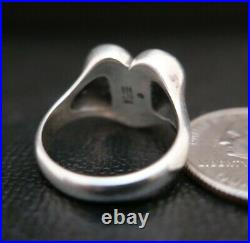 JAMES AVERY RETIRED STERLING SILVER 925 SCROLL FRENCH HEART RING Size 7.5! JA