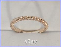 JAMES AVERY Small Twisted Wire Ring 14k yellow Gold Size 7