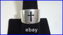 JAMES AVERY Sterling Silver Crosslet Cross Cutout Square Ring Size 8.25