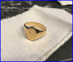 James Avery 14K Gold Signet Ring Engraved with T Size 9 Close to spot