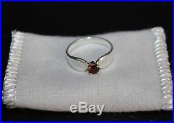 James Avery 14K Gold Sterling Silver Garnet Ring Size 5 1/4 Retired 925