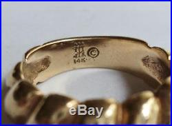 James Avery 14K Gold Tapered Fluted Ring Sz 4 RETIRED
