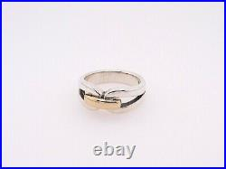James Avery 14K Gold and Sterling Silver Enduring Bond Ring -Size 7
