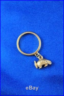 James Avery 14K Yellow Armadillo Charm Ring 4.5 Grams Size 4.75