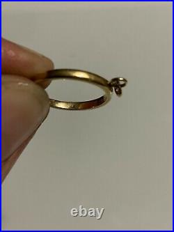 James Avery 14K Yellow Gold Charm Ring Size 4.5 Appx 2 Grams