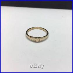 James Avery 14K Yellow Gold Child's Cherished Ring Size 5