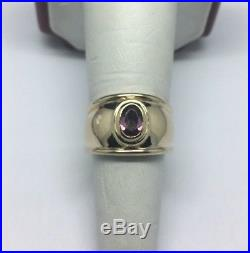 James Avery 14K Yellow Gold Christina Ring with Amethyst Size 7.5