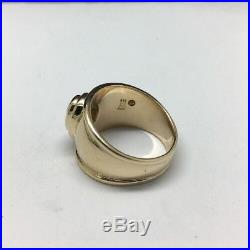 James Avery 14K Yellow Gold Christina Ring with Blue Topaz Size 5