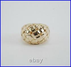 James Avery 14K Yellow Gold DOME BASKET WEAVE Ring Size 7.25 Retired