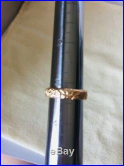James Avery 14K Yellow Gold Flower Ring Band