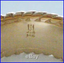 James Avery 14K Yellow Gold Fluted Wedding Band Ring Sz 8 RETIRED