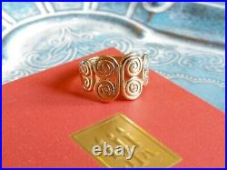 James Avery 14K Yellow Gold Mycenaean Butterfly Ring Size 5.75 RETIRED RARE