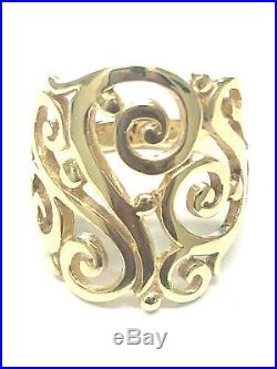 James Avery 14K Yellow Gold Open Sorrento Ring, Size 8