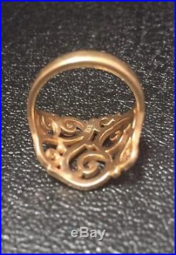 James Avery 14K Yellow Gold Open Sorrento Ring Size 9.25