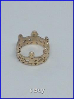 James Avery 14K Yellow Gold Paperdoll Ring 8