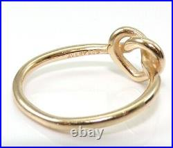 James Avery 14K Yellow Gold Ring Heart Love Knot Size 4.5 LHK2
