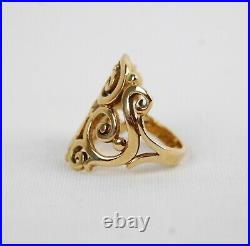 James Avery 14K Yellow Gold SORRENTO Ring Size 5.5