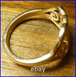 James Avery 14K Yellow Gold Scroll Cross Ring Size 6.5