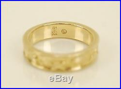 James Avery 14K Yellow Gold Sea Shells Ring 7.74g Size 6 Retired