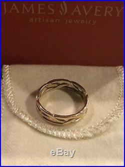James Avery 14K Yellow Gold Tresse Band Ring Size 9 Retails For $370