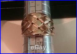 James Avery 14K yellow gold basket weave ring