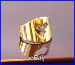 James Avery 14Kt Yg Heart Cut Out Ring Size 4
