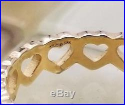 James Avery 14 K Gold Tiny Hearts Ring Size 7, 3 Grams