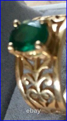 James Avery 14k Adoree Emerald Ring Size 7 (6.8 Grams) Retired