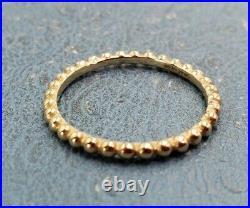 James Avery 14k Beaded Ring Sz10