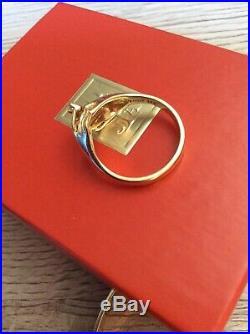 James Avery 14k Gold Diamond Hand Ring Rare Retired