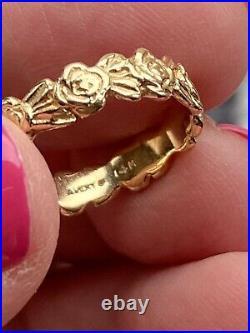 James Avery 14k Gold Eternity Band Rose Band Ring Rare Size 6 1/4