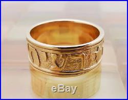 James Avery 14k Gold Men S Song Of Solomon Wedding Band Ring Size